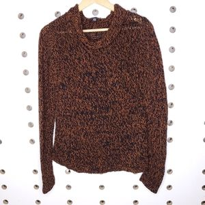 Eileen Fisher Marled Knit Funnel Neck Sweater